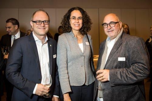 Reto Ammann, Monika Müller und Andy Hostettler. (Bild: Reto Martin)