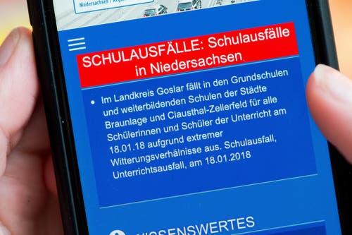 """Sturmtief """"Friederike"""" zieht über Niedersachsen (Bild: Keystone)"""