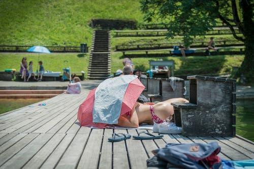 Im Freibad Dreilinden St.Gallen. (Bild: Jil Lohse)