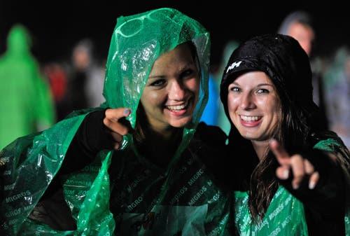 Lächeln trotz Regenwetters. (Bild: Reto Martin)