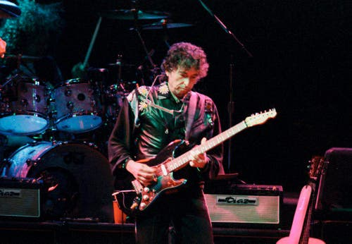 Dylan 1993 am Gurtenfestival in Bern. (Bild: Keystone)