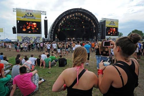 Perfekter Blick auf die Bühne. (Bild: Reto Martin)
