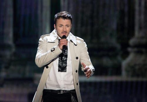 Mazedonien: Sänger Daniel Kajmakoski. (Bild: GEORG HOCHMUTH)