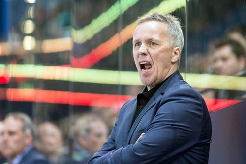 ZSC-Trainer Hans Wallson. (Bild: Alexandra Wey/Keystone)