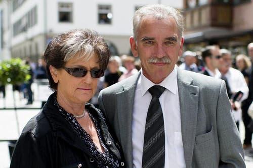 Bauchredner Urs Kliby und seine Frau Ruth. (Bild: Keystone)