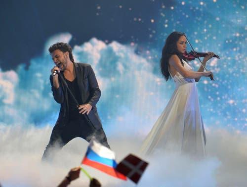 Weissrussland: Uzari & Maimuna mit ihrem Song 'Time'. (Bild: Kerstin Joensson)