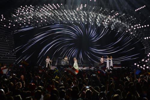 Russland: Polina Gagarina performt ihren Song 'A Million Voices'. (Bild: Kerstin Joensson)