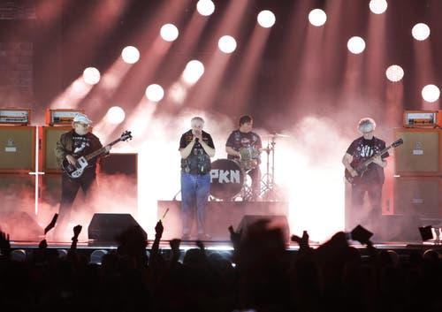 Finnland: Die Band Pertti Kurikan Nimipaivat. (Bild: GEORG HOCHMUTH)