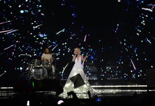 Russland: Polina Gagarina bei ihrem Song 'A Million Voices'. (Bild: Kerstin Joensson)