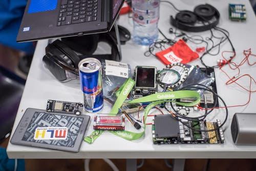 Michel Canonica / Tagblatt Start Hack IT-Studenten aus aller Welt coden und programmieren 35 Stunden lang am Stück. Veranstaltungsort: Universität St. Gallen HSG 9000 Sankt Gallen, Schweiz (Bild: Michel Canonica)