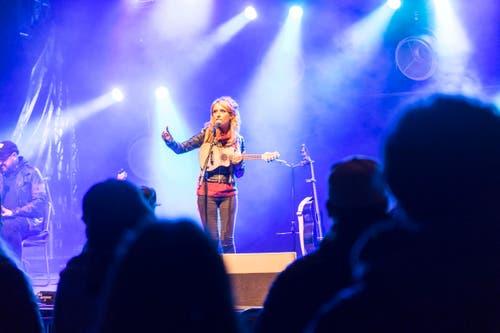 Sarah Liesch auf der Weihern-Bühne. (Bild: Ralph Ribi)