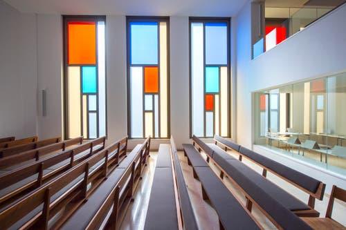 Rundgang durch den Neubau der Neuapostolischen Kirche in St. Gallen (Bild: Urs Bucher)