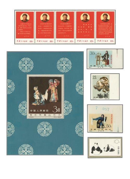 Auszug von Spitzenwerten aus einer VR-China-Sammlung aus dem Jahr 1887. Schätzung des erwarteten Verkaufspreises für diese Sammlung: 35'000 Franken. (Bild: pd)
