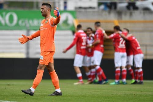 Dejan Stojanovic ärgert sich über den Rückstand. (Bild: Keystone)