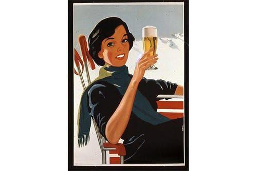 1954: Auch die Frauen wollte man zum Bierkonsum animieren. (Bild: SBV)