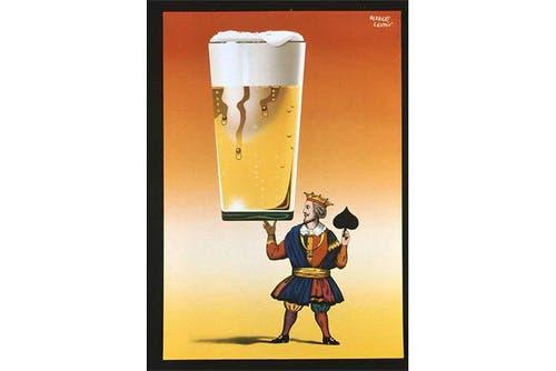 Plakat aus dem Jahr 1953: Das Bier als König unter den Getränken. (Bild: SBV)