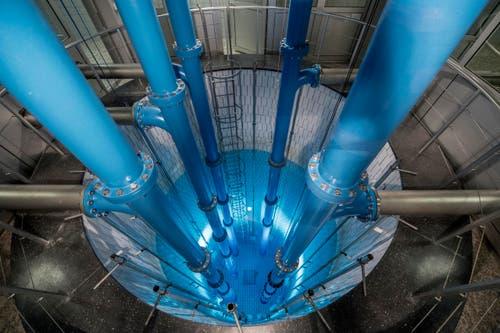 In diesem Brunnentank wird das Grundwasser gesammelt. Von hier wird das Wasser hochgepumpt. (Bild: Pius Amrein (1. Mai 2018))