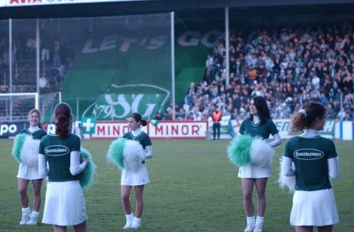 Bereits im Espenmoos kamen die Cheerleader des FC St.Gallen zu Pauseneinsätzen. (Michael Freisager)