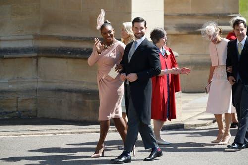 Tennisspielerin Serena Williams und ihr Ehemann Alexis Ohanian. (Odd Anderson/pool photo via AP)