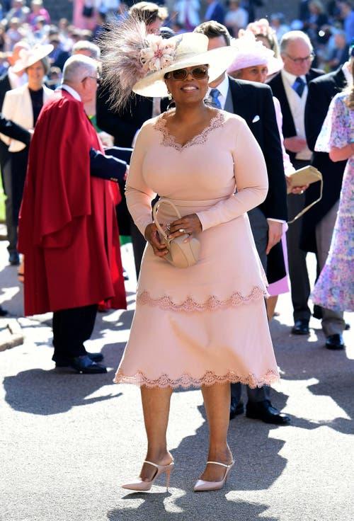 Die US-amerikanische Moderatorin Oprah Winfrey zählt zu den geladenen Gästen. (Ian West/pool photo via AP)
