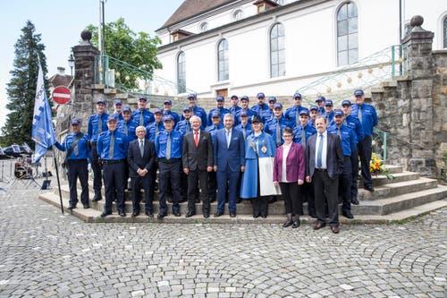 Impression der öffentlichen Vereidigungsfeier in Sursee. (Bild: Manuela Jans-Koch, 24. Mai 2018)