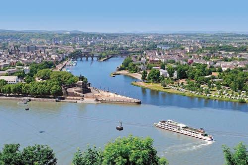 Die Seilbahn Koblenz ist 890 Meter lang, befördert pro Stunde und Richtung 3800 Personen. Eine Fahrt kostet 7,20 Euro. (Bild: PD)