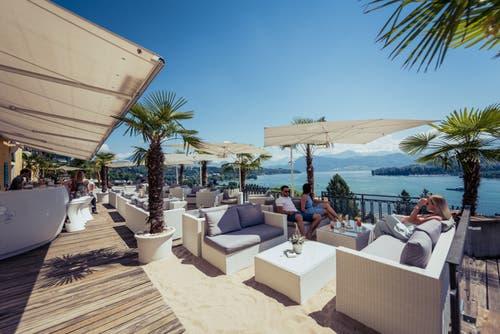 Der Montana Beach Club ist die beliebteste Roof-Top-Bar der Schweiz. Bild: PD