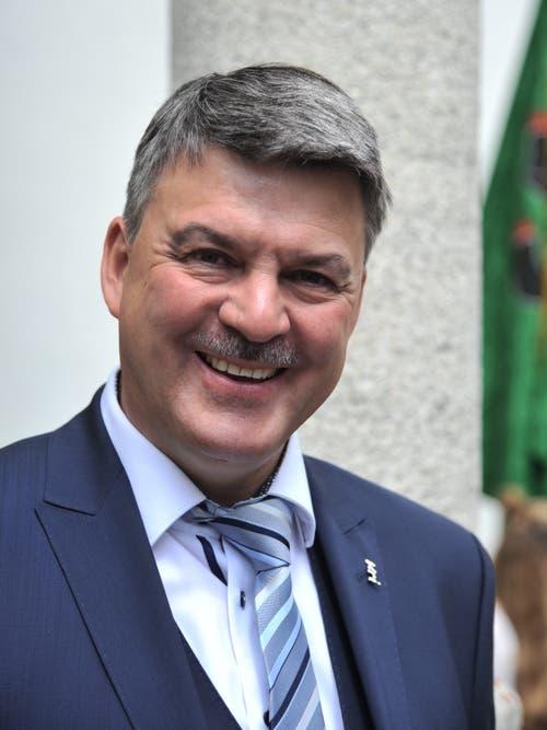 Der neue Talammann Beat Schmid. (Bild: Urs Hanhart, Hospental, 27. Mai 2018)