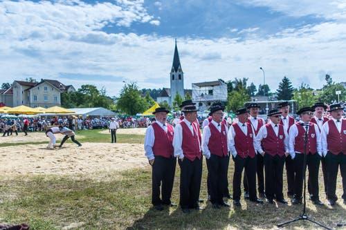 St. Galler Kantonalschwingfest in Tübach.