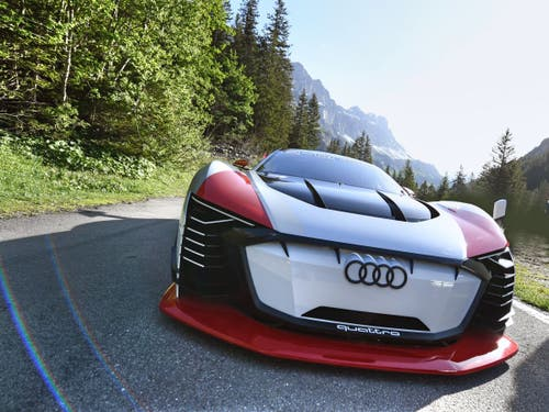 Der E-Tron Vision GT. (Bild: Audi AG, Spiringen, 28. Mai 2018)