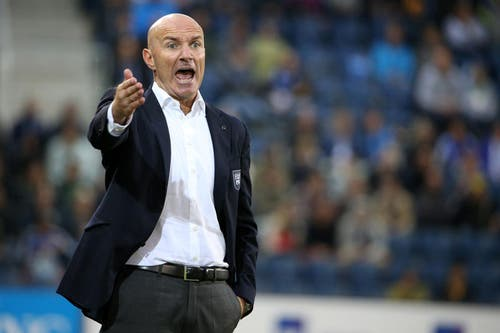 Carlos Bernegger trainierte den FC Luzern von April 2013 bis Oktober 2014. Auch ihm wurde seine schlechte sportliche Bilanz zum Verhängnis und er wurde entlassen. Wieder übernahm Gerardo Seoane als Interimstrainer. (Bild: Philipp Schmidli)