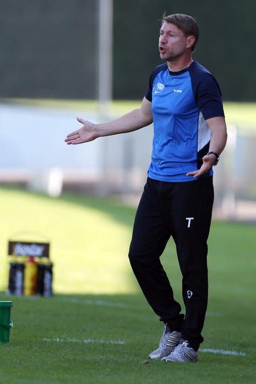 Im August 2008 übernahm der damalige U21-Coach Jean-Daniel Gross als Interimstrainer für kurze Zeit das Ruder. (Bild: Philipp Schmidli)