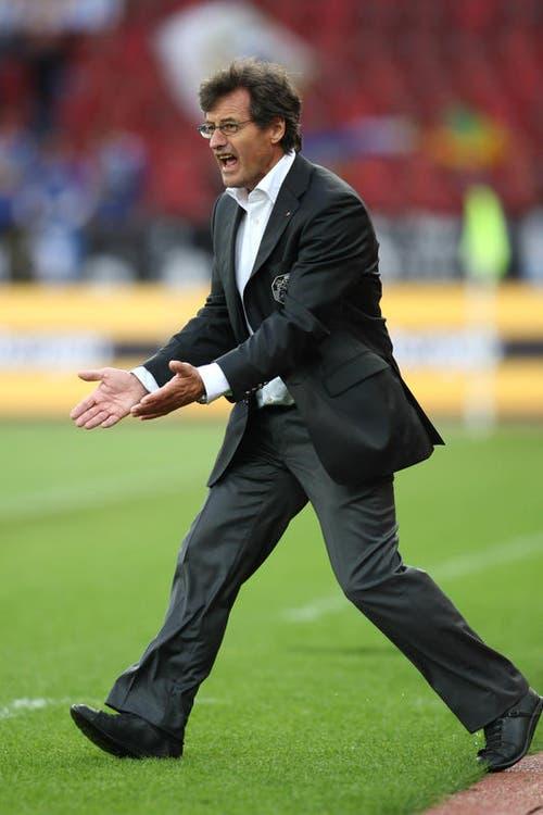 Roberto Morinini trainierte den FC Luzern nur kurze 2 Monate, nämlich vom 18. August bis zum 26. Oktober 2008. Nach nur sechs Spielen wurde der Tessiner wieder entlassen. (Bild: Philipp Schmidli)
