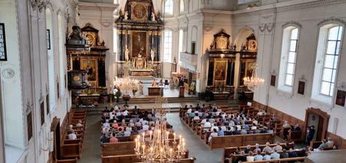 Volle Kirche am Jubiläumsgottesdienst. (Bilder Markus von Rotz (Alpnach, 10. Juni 2018))