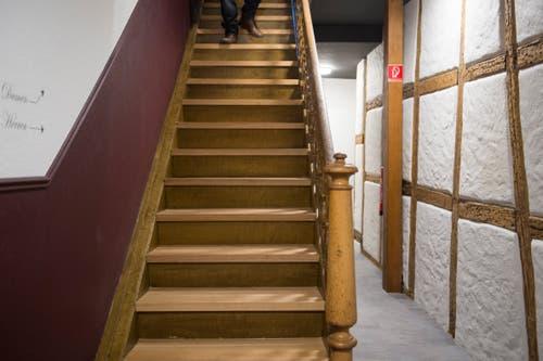 Die Treppe in den oberen Stock. (Bild: Benjamin Manser - 6. Oktober 2015)