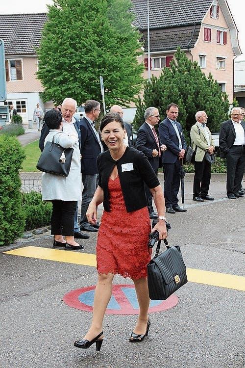 Imelda Stadler wurde in Lütisburg feierlich empfangen. (Bild: Martin Knöpfel)