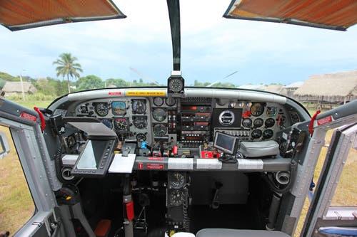 Das Cockpit des PC-6.