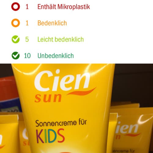 Cien, Sonnencrème für Kinder 50+
