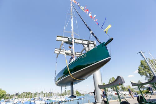 Die grösste je in einer Werft am Schweizer Bodensee-Ufer gebaute Yacht.