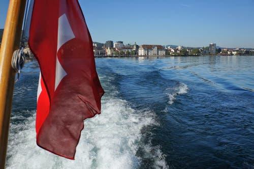 Auf dem Bodensee vor Rorschach. (Bild: Toni Sieber)