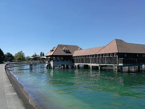 Badhütte Rorschach (Bild: Jolanda Riedener)