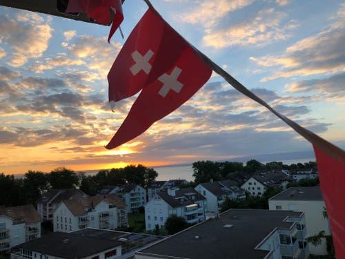 Morgenstimmung in Arbon. (Bild: Dominik Füglister)