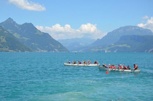 Welches Kanu kommt beim Aawasseregg-Cup schneller um die Boje?
