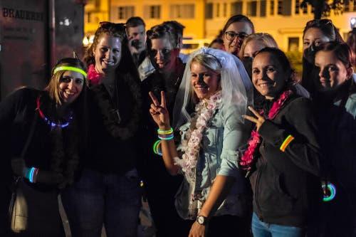 Eine Gruppe Girls beim Polterbend (Bild: Christian H. Hildebrand, 23. Juni 2018).