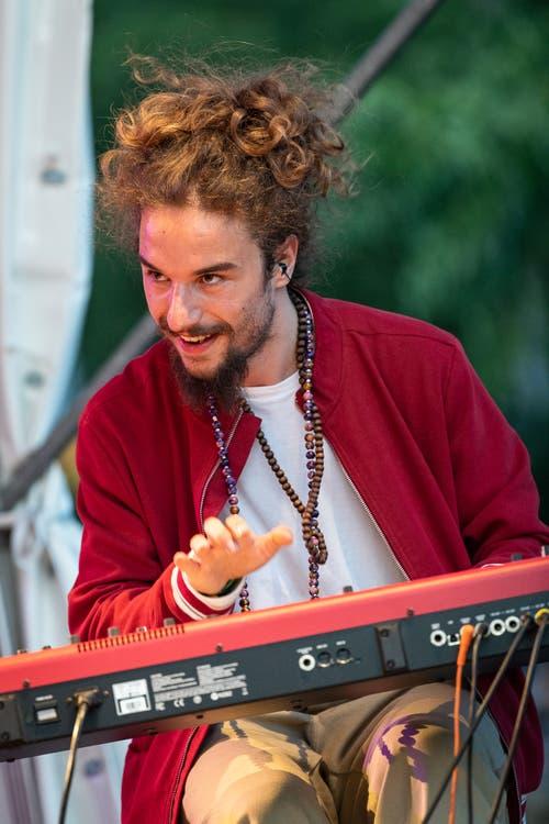 Der Keyboarder von Mothership Caldonia (Bild: Christian H. Hildebrand, 23. Juni 2018).