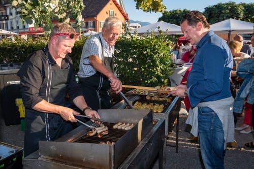 Ein Metzger und ein Arzt am Grill (Bild: Christian H. Hildebrand, 23. Juni 2018).