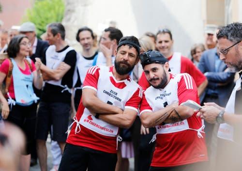 Boris Alonso Sosa Centeno und Ricardo Cerdas Cortes starten als Team von Costa Rica. vlnr. (Bild: Stefan Kaiser (Zug, 25. Juni 2018))