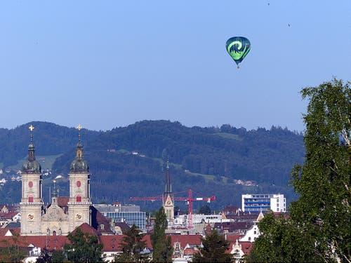 St. Gallen am Boden? Nein, St.Gallen oben! (Bild: Hermann Bigler)
