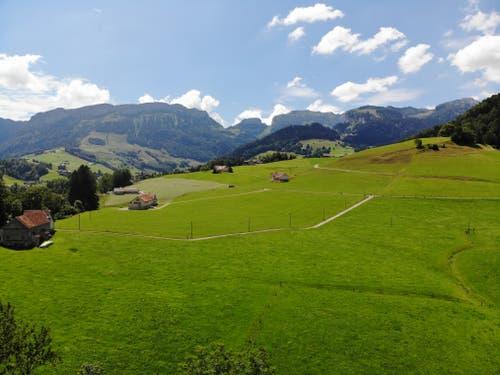 Blick von Schwende Richtung Alpstein. (Bild: Rouven Baldamus)