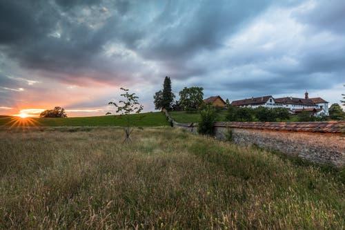 Sonnenuntergang auf der Notkersegg. (Bild: Christian Wild)